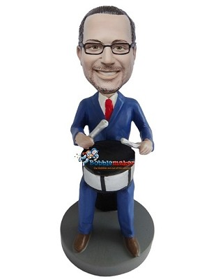 Custom Bobble Head | Business Drummer Male Bobblehead | Gift Ideas For Men
