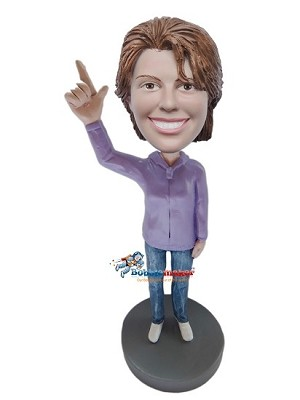 Custom Bobble Head | We're Number One Female Bobblehead | Gift Ideas For Women