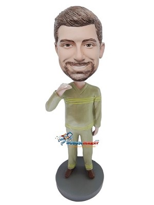 Custom Bobble Head | Had It Up To Here Casual Male Bobblehead | Gift For Men