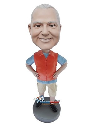 Man In Safety Vest bobblehead Doll