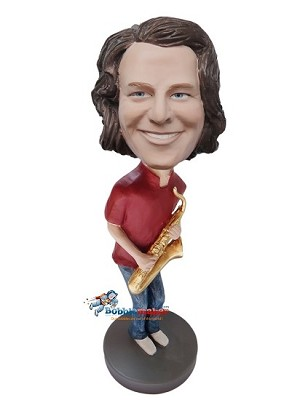 Saxophone Player Male bobblehead Doll