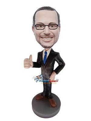 Thumbs Up Executive bobblehead Doll