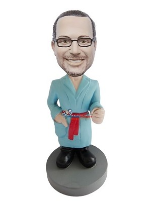 Man In Bath Robe bobblehead Doll