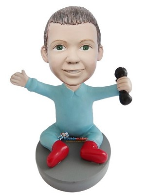 Custom Bobble Head | Baby With Rattle Bobblehead | Gifts for Kids