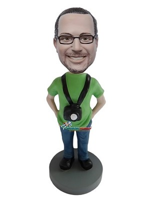 Man With Camera bobblehead Doll