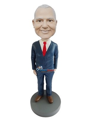 Custom Bobble Head | Executive Male With Hand In Pocket Bobblehead | Gift Ideas For Men