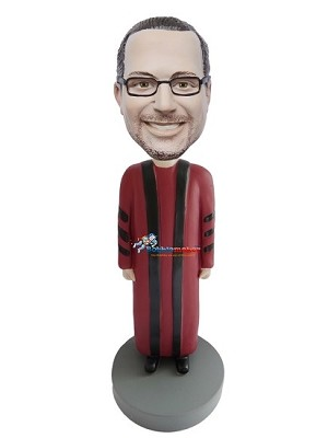 Man In Doctoral Robes bobblehead Doll