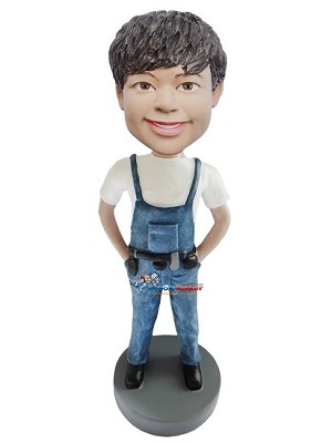 Carpenter Male bobblehead Doll
