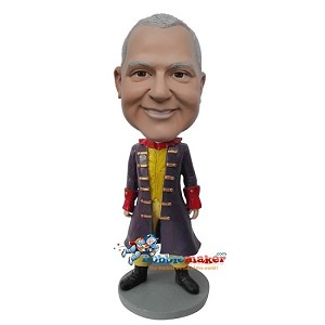 Custom Bobble Head | Pirate Captain Male Bobblehead | Gift For Men