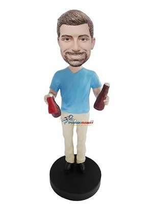 Man With Condiments bobblehead Doll