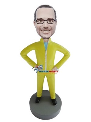 Casual Male In Jump Suit bobblehead Doll