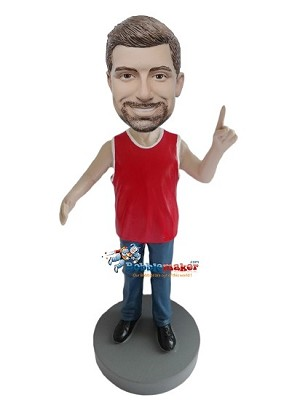 Custom Bobble Head | Ultimate Basketball Fan With Arm Out Bobblehead | Gift Ideas For Men