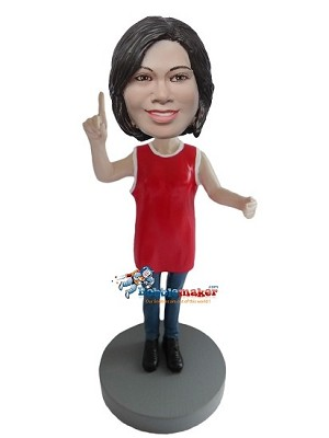 Ultimate Female Basketball Fan bobblehead Doll