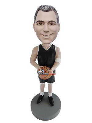 Male Basketball Player About To Shoot bobblehead Doll