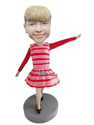 Custom Bobble Head | Peppermint Dress Female Bobblehead | Gift Ideas For Women