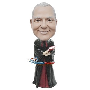 Priest With Bible bobblehead Doll