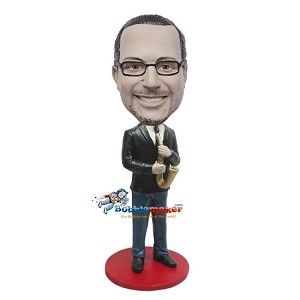 Custom Bobble Head | Saxophone Player Man Bobblehead | Gift For Men