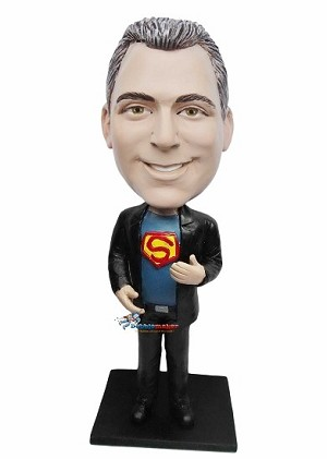 Man With Superman Shirt bobblehead Doll