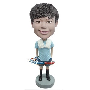 Runner With Towel bobblehead Doll