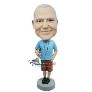 Male Coach In Shorts bobblehead Doll