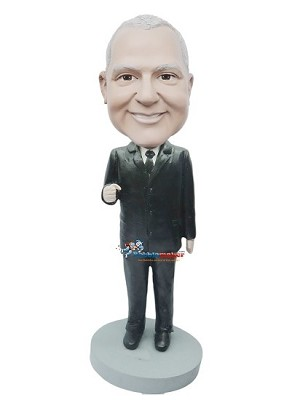 Custom Bobble Head | Boss Making Fist Bobblehead | Gift Ideas For Men