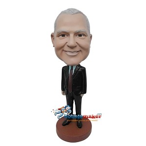 Custom Bobblehead | Hands At Sides Businessman Bobblehead