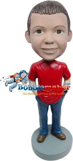 Custom Bobble Head | Casual Boy Bobblehead | Gift For Men