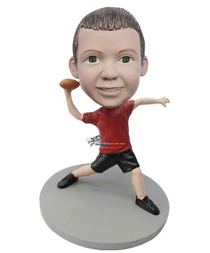 Boy Throwing Football bobblehead Doll