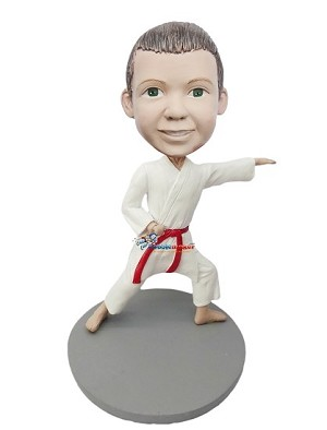 Male Child Karate bobblehead Doll