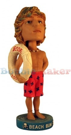 Custom Bobble Head | Male Lifeguard With Ring Bobblehead | Gift Ideas For Men