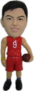 Male Basketball Player bobblehead Doll
