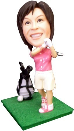 Custom Bobble Head | Golfer Bobblehead - Female | Gift Ideas For Women