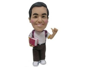 Custom Bobble Head | Man With Book At Side Bobblehead | Gift Ideas For Men