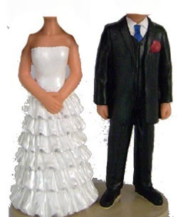 Custom Bobble Head | Frilly Wedding Dress Couple Bobblehead | Gift Ideas For Wedding