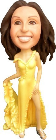 Red Carpet Dress Female bobblehead Doll