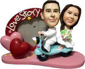 Custom Bobble Head | Scooter Love Story Custom Bobblehead | Gift Ideas For Wedding