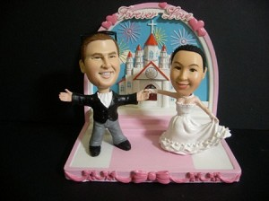 Marriage At The Church bobblehead Doll