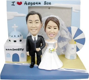 Wedding Couple  4 with base Personalized Bobblehead Doll