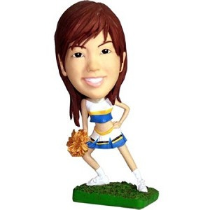 Cheerleader With Pompom bobblehead Doll