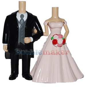 Custom Bobble Head | Classic Bride And Groom Cake Topper Bobblehead | Gift Ideas For Wedding