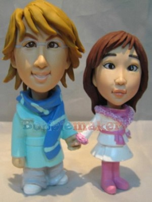 Custom Bobble Head | Winter Couple Bobblehead | Gift Ideas For Couples