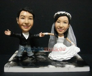Couples First Dance Wedding bobblehead Doll