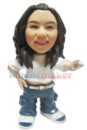 The Breakdancing Female Bobblehead Doll