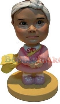 Girl's First Day of School bobblehead Doll