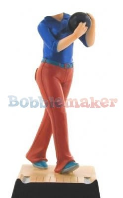 The Female Bowler bobblehead Doll