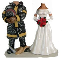 Custom Bobble Head | Fireman Groom Wedding Couple Bobblehead | Gift Ideas For Wedding