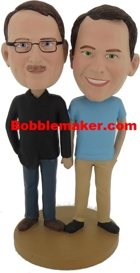 Same Sex Couple bobblehead Doll