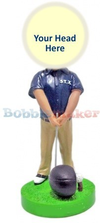 Custom Bobble Head | Comically Large Driver Golfer Bobblehead | Gift Ideas For Men