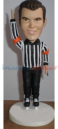 Hockey Referee bobblehead Doll