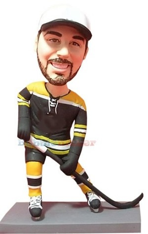 Awesome Hockey Player bobblehead Doll